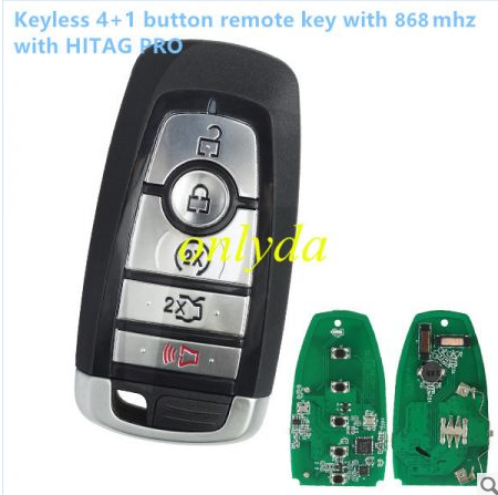 keyless 4+1 button remote key with 868mhz with HITAG PRO