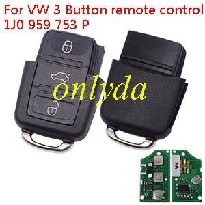 For VW 3 Button remote control 1J0 959 753 P