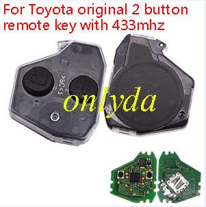 Toyota original 2 button remote key with 433mhz
