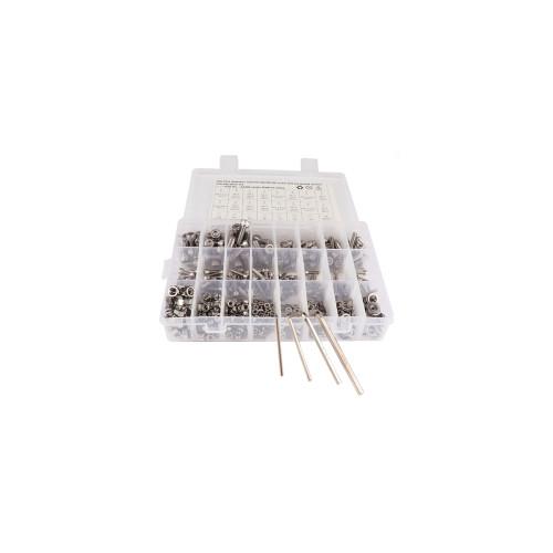 520pcs Stainless Steel M3 M4 M5 M6 Hexagon Socket Head Screws-Wholesale Price for Cars/Shopify,Amazon,Ebay Hot Seller