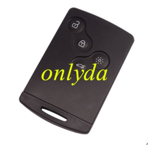 Clio IV 4 button keyless Remote key no logo used for after 2013 year car. Chip  is hitag AES chip use avdi To program (pay attattion, it is 2013 year new car remote)