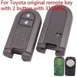 For Toyota original remote key with 2 button with 315MHZ