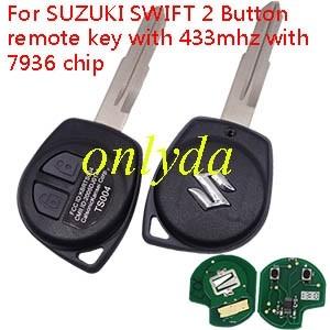 SUZUKI SWIFT 2 Button remote key with 433mhz with 7936 chip