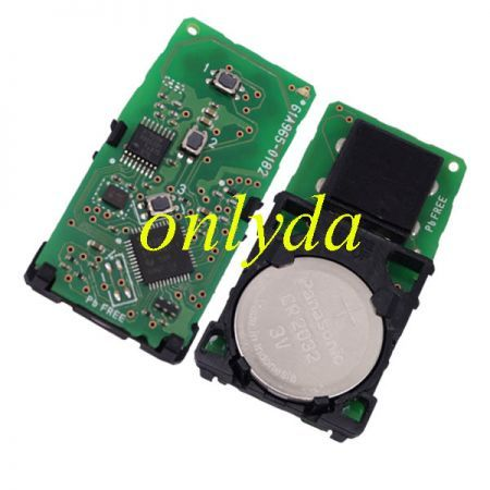 For Toyota Hilux original 2+1B remote Toyota H chip- 434mhz FCCID:61A965-0182