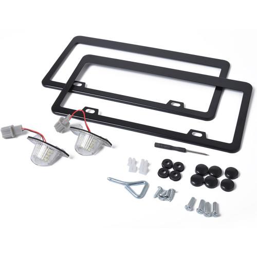 2 x LED License Plate Lamp with Licence frame Wholesale Price  for Honda Jazz CR-V OE:34101S60013 Ebay,Wish Hot Seller