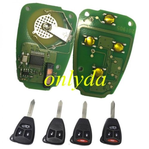 remote key with 434mhz PCF7941 Hitag2 46 chip. with 2/2+1/3/3+1 button key shell, which key shell do you need ?