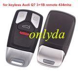 Original For Audi Keyless Q7 3+1B remote 434mhz