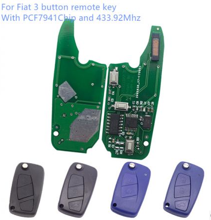 For Fiat 3 button remote key With PCF7941Chip and 433.92Mhz,please choose the key shells