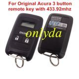 Original for Acura 3 button remote key with 433.92mhz S/N:2172000004086 CMIIT ID: 2012DJ3961 PN:5E2050 Nodel No. RS-13HC