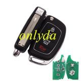 For hyundai 3+1 button Remote key with 315mhz