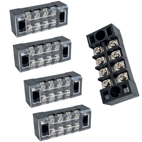 4 Positions Dual Row Screw Terminal Strip Block-Wholesale Price for Rv Boat  /Shopify,Amazon,Ebay,Wish Hot Seller