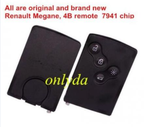 All are original and brand new. Frequency :433mhz, chip: 7941, car model: Megane ⅲ,  4 button, No blade