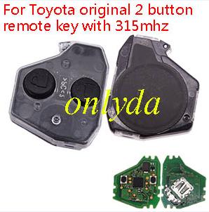 Toyota original 2 button remote key with 315mhz