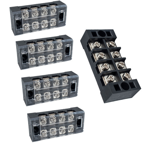 4 Positions Dual Row Screw Terminal Strip Block-Wholesale Price  for Rv Boat/Shopify,Amazon,Ebay,Wish Hot Seller