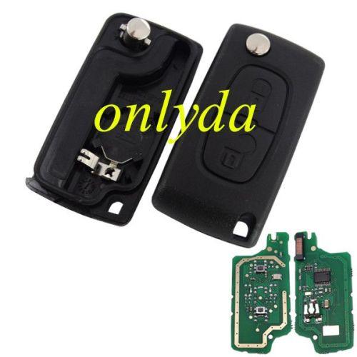 2B Flip Remote Key with PCF7961-46 chip FSK model with VA2 /HU83 blade