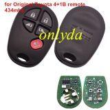 For Original Toyota (4+1)B remote key with 434mhz