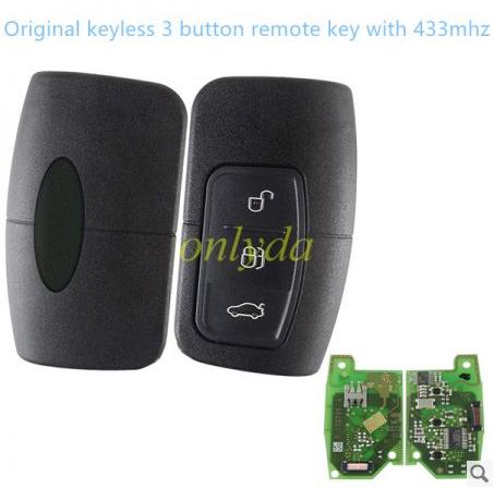 Original keyless 3 button remote key with 433mhz 5L17 01 3M5T-15K601-EA