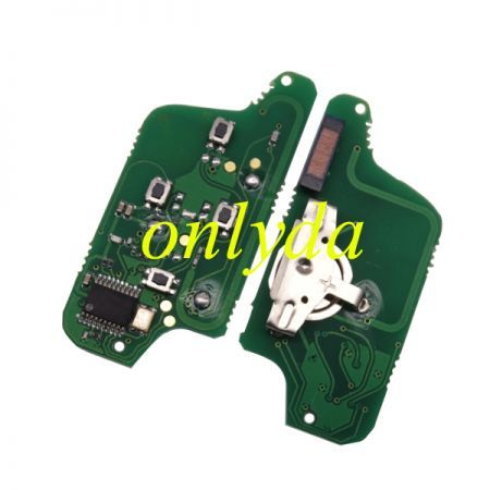 4B Flip Remote 433mhz (battery on PCB) with ASK model PCF7941 46 chip with VA2 / HU83 blade