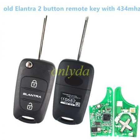 Original 3 button remote key with 434mhz(original PCB,aftermarket key shell)