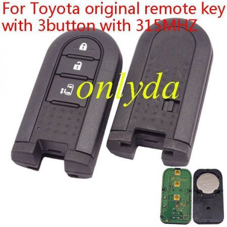 For Toyota original remote key with 3 button with 315MHZ