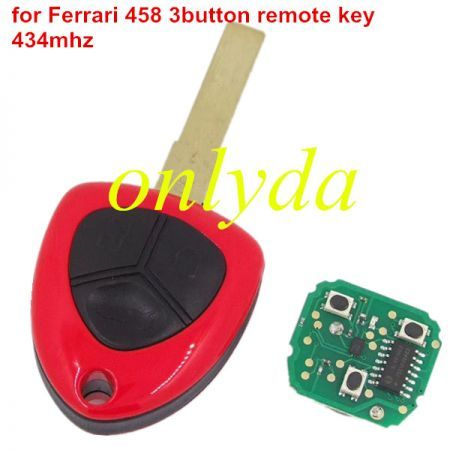 for 458 3button remote key 434mhz