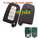 For hyundai 4 button remote key 434MHZ-no blade