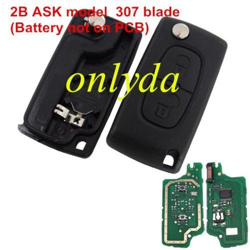 For Citroen 2B Flip Remote PCF7961 46 chip ASK model VA2/HU83 blade