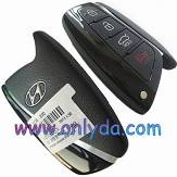 hyundai 4 button remote key with 7952 chip 46 chip 434MHZ