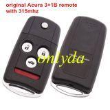 Original for Honda 3+1 Button remote key with 315mhz