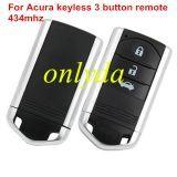 original for Alfa Romeo 147/GT 3 button remote key 434mhz