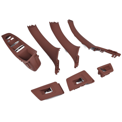 7Pcs Reddish Brown Inner Door Handle-Wholesale Price  for BMW 5 Series OE:51417261929/Shopify,Amazon,Ebay Hot Seller