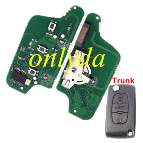 3B Flip Remote PCF7941 46 chip ASK model with VA2/HU83 blade, trunck / light button