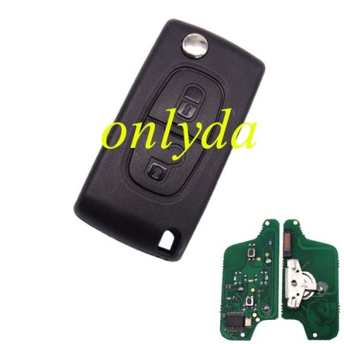 2B Flip Remote 433mhz (battery on PCB) ASK model PCF7941 46 chip with VA2/HU83 blade