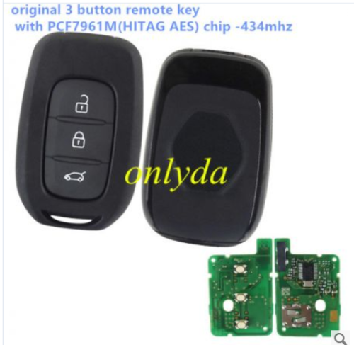 original Renault 3 button remote key with PCF7961M(HITAG AES)chip-434mhz  original Renault 3 button remote key with PCF7961M(HITAG AES)chip-434mhz        2EE 00508         IC:1788F-FWE1G0003 FCCID:CWTWE1G0003   Model:TWE1G0003      2EE 00508         IC:1788F-FWE1G0003 FCCID:CWTWE1G0003   Model:TWE1G0003