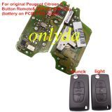 For original Peugeot 3 Button Flip Remote Key with 433mhz (battery on PCB) with FSK model with 46 chip