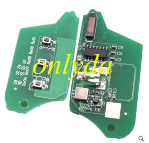 for Renault Modified 3 button remote key 7946 chip-434mhz