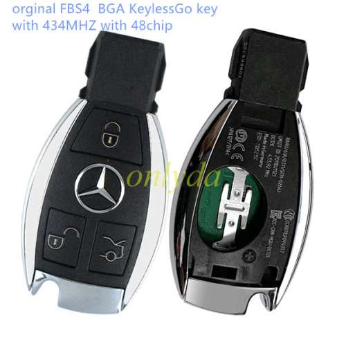 Mercedes-Benz MB FBS4  BGA KeylessGo key with 434MHZ with 48chip   Support after 2009 year car W221,W216,W164,W251(S-class, ML-class,GL-class, R-class)