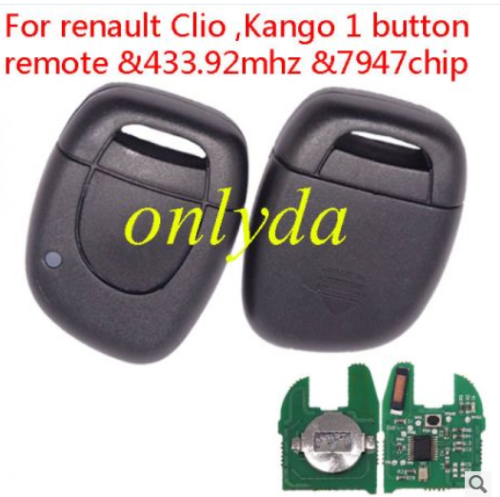 For Renault Clio ,Kango 434mhz after 2000 year with 7947 chip inside