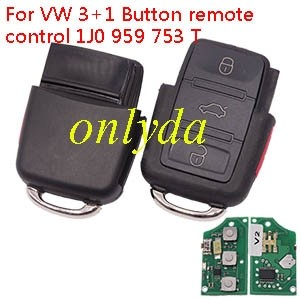 For VW 3+1 Button remote control 1J0 959 753 T
