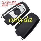 Genuine For BMW 3 button keyless remote key with 868mhz