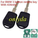 For BMW 3 button remote key With 315mhz /433mhz