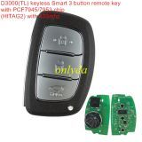 D3000(TL) keyless Smart 3 button remote key with PCF7945/7953 chip (HITAG2) with 433mhz