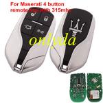Maserati 4 button remote key with 315mhz PCF7945/7953(HITAG2)