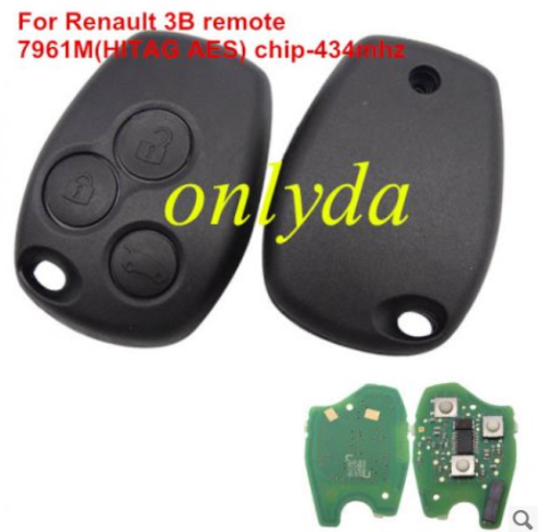 For Renault 3B remote 7961M(HITAG AES) chip-434mhz
