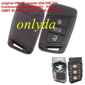 For original VW 3B remote ID48 chip- 434mhz 3G0.959.752K Continental: A2C84367901 FS14K CMIIT ID:2014DJ4676 FCCID:KR5FS14 CNC ID:H-14349-FS14K