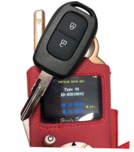 Renault 2 button remote key with PCF7961M(HITAG AES)chip-434mhz    FSK