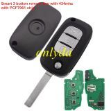 smart 3 button remote key with 434mzh with PCF7961M chip