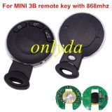 for MINI 3 button remote key with 868mhz