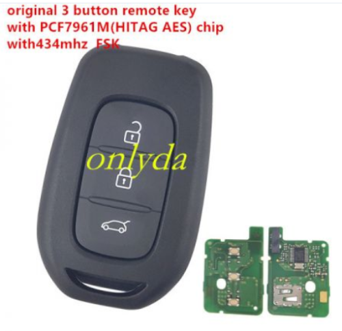 Original 3 button remote key with PCF7961M(HITAG AES)chip-434mhz