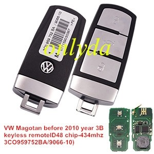 For VW Magotan before 2010 year 3B keyless remote ID48 chip 3CO959752BA/9066-10)